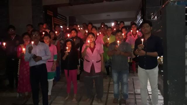 Candle light Condolences at Cuttack, Odisha Hospital