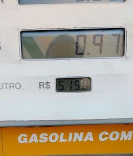 Gasolina no Piauí supera preço médio da ANP e chega a R$ 5,15 em Corrente
