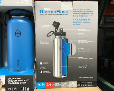 Costco 977824 - Takeya ThermoFlask Water Bottle - Keep cold beverages cold and hot beverages hot