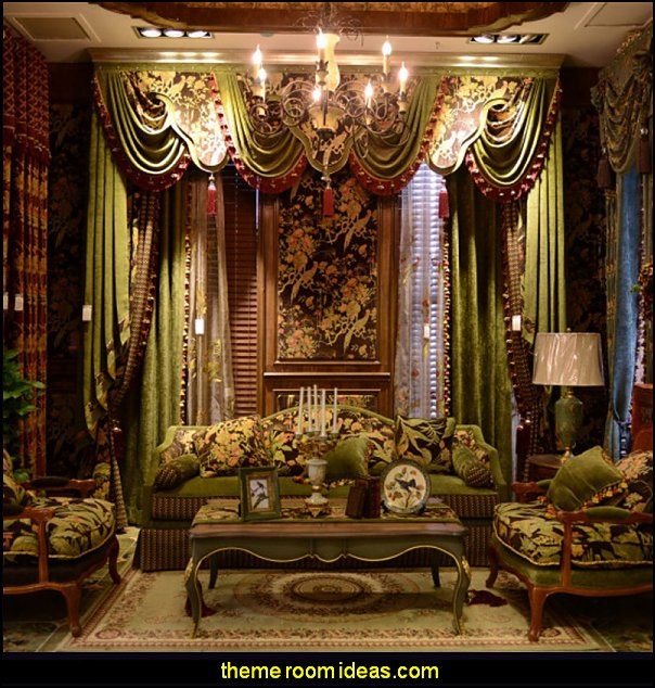 The Secret Garden luxurious curtains Victorian  living room curtains Victorian style decorating