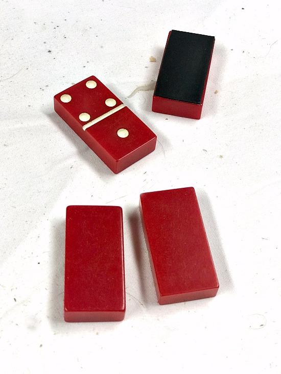 DIY Red Domino Refrigerator Magnets