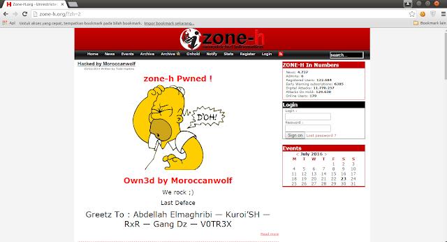 Breaking News : Web Mirror Deface zone-h.org Di hack