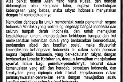 Piagam Jakarta | Tokoh, Sejarah, Rumusan, Naskah dan Bunyinya