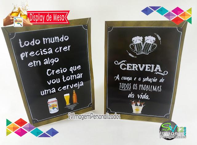 Festa Boteco Cerveja Antarctica Original dica decoração , os preços mais baratos para personalizados display para mesa