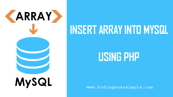 insert php array into mysql database
