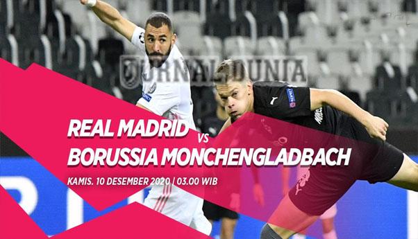 Prediksi Real Madrid Vs Borussia Monchengladbach, Kamis 10 Desember 2020 Pukul 03.00 WIB @ SCTV