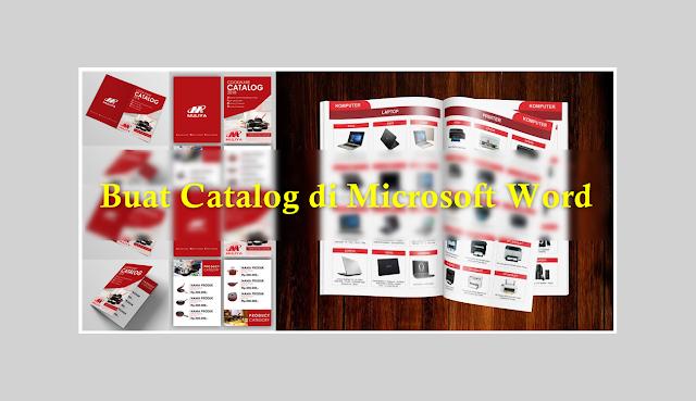 cara membuat katalog pada microsoft word