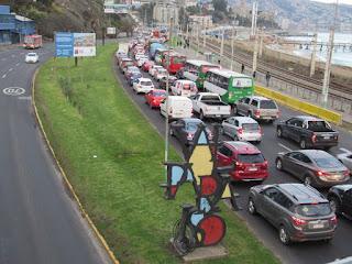 atasco avenida españa valparaiso