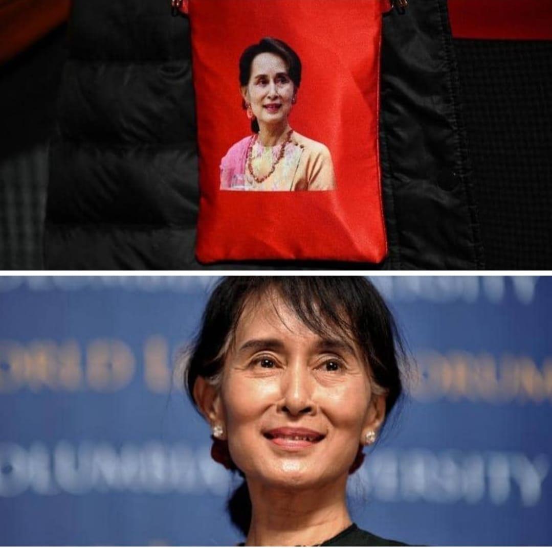أونغ سان سو كي  تتصدر عناوين الأخبار حول العالم