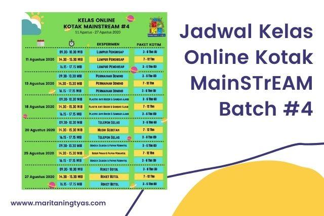 jadwal kelas online STreAM batch 4
