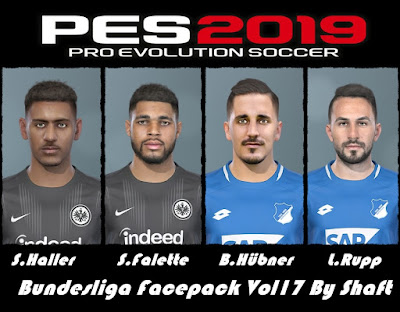 PES 2019 Bundesliga Facepack Vol 17 by Shaft
