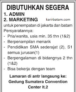 Lowongan Kerja Admin dan Marketing Lulusan SMA