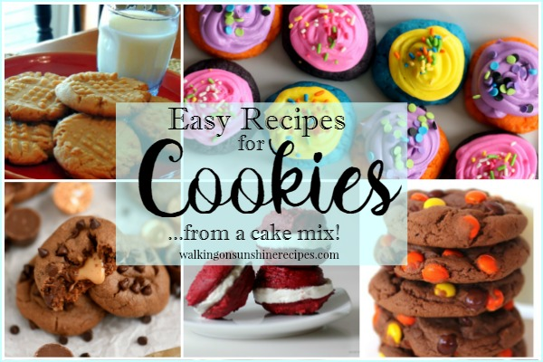 Easy Cookie Recipes from Cake Box Mixes