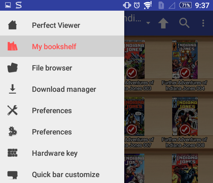 Unsolicited Question: Deleting CBRs from Perfect Viewer for Android