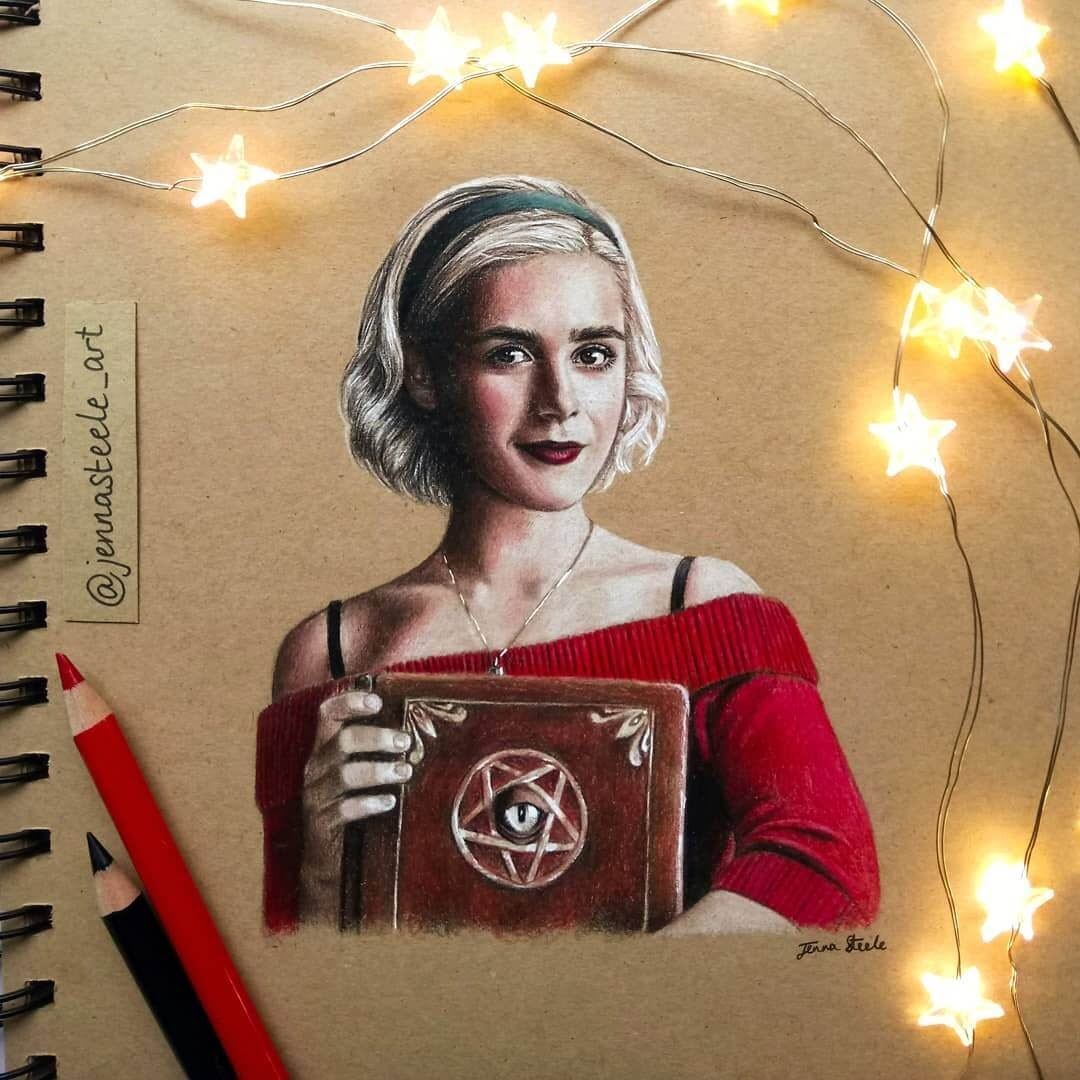 03-Sabrina-Spellman-Netflix-Jenna-Steele-Collection-of-Pencil-Drawings-www-designstack-co