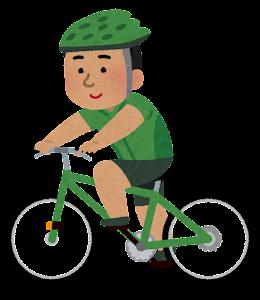 サイクリングをする人のイラスト(東南アジア人男性)