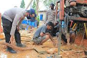 Berlanjut Bantuan Dankor Brimob Polri, Pembuatan Sumur Bor di Perumahan Graha Bukit Harapan