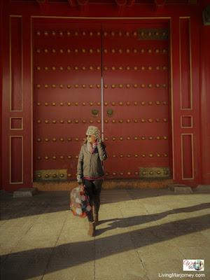 The giant red door to Forbidden City