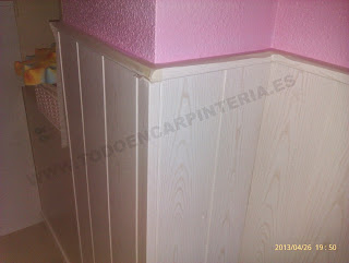 Pared decorada en fliso
