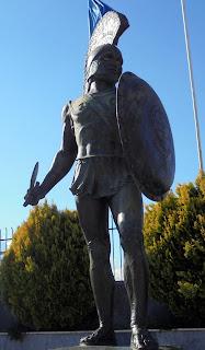 ο ανδριάντας του Λεωνίδα στη Σπάρτη