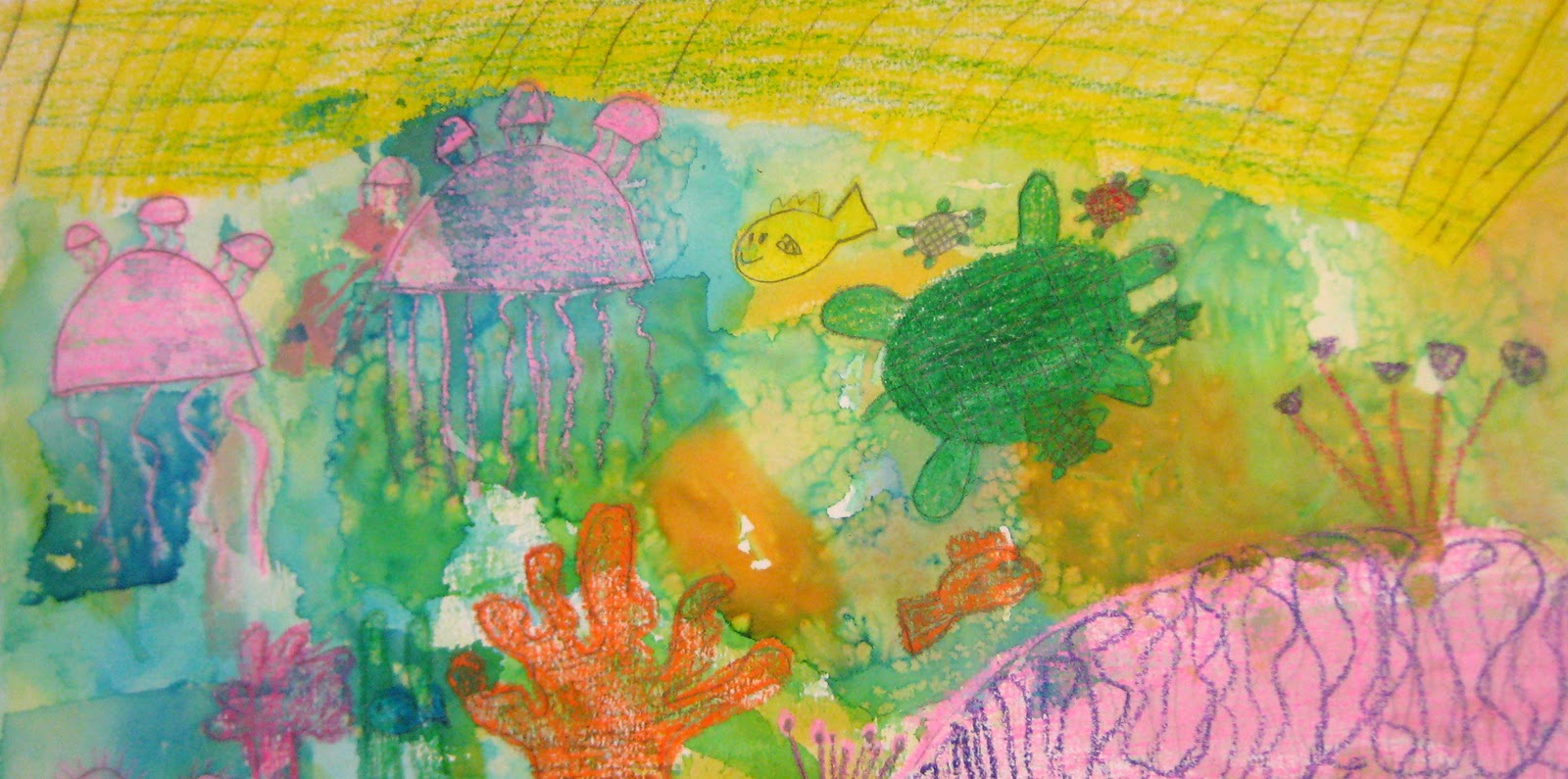 Experiments in Art Education: Watercolor Coral Reefs