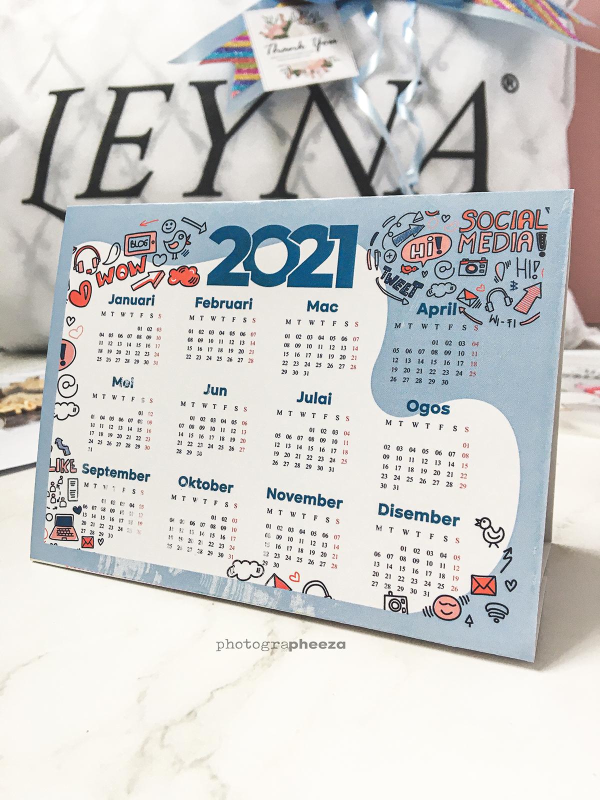 Tent Card Calendar Blog Dunia Shida