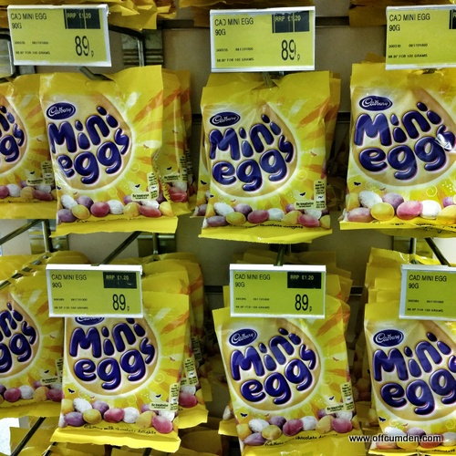 mini eggs at Christmas