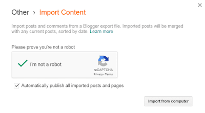 How To Import Your Content In Blogger