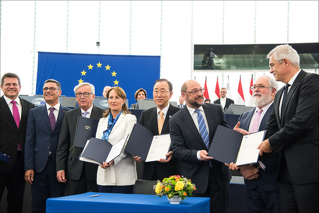 The Agreement calls on states that have ratified to pursue their highest possible ambition to reduce greenhouse gas emissions using Nationally Determined Contributions (NDCs) that are monitored through a reporting mechanism.  The overall goal is thus for countries to take action to keep global temperature rise this century below two degrees Celsius from pre-industrial levels, while at the same time using their best efforts to limit global temperature rise to well below two degrees, aiming at 1.5 degrees Celsius.