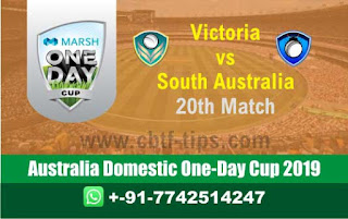 Who will win Today Marsh One Day Cup, 20th Match SAU vs VCT, Australia Domestic One-Day Cup 2019
