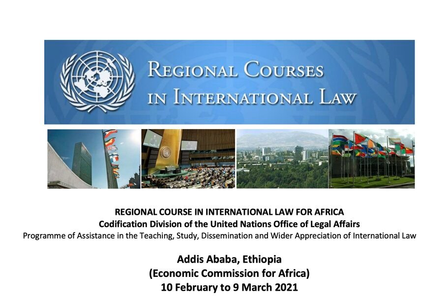 United Nations Regional Course in International Law Programme 2021