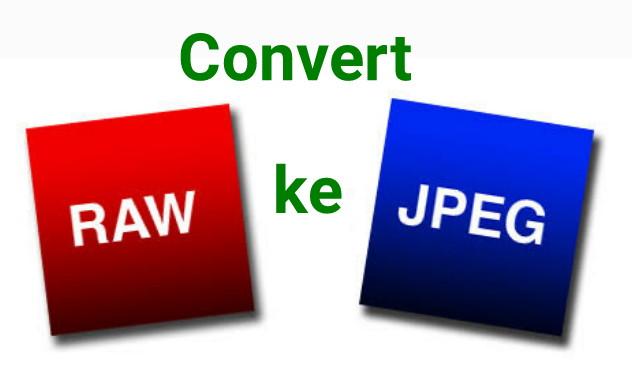 Cara Mengubah Foto Raw Ke JPG