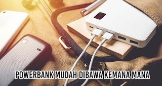 Powerbank Mudah Dibawa Kemana mana merupakan salah satu keuntungan powerbank untuk promosi perusahaan