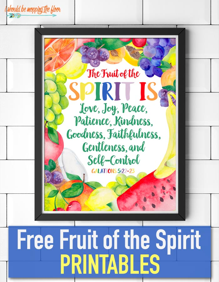 Fabulous image within fruits of the spirit printable