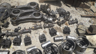 MAN B&W, spare, B&W 23LU, con rods, cylinder head, piston, piston ring, bearing