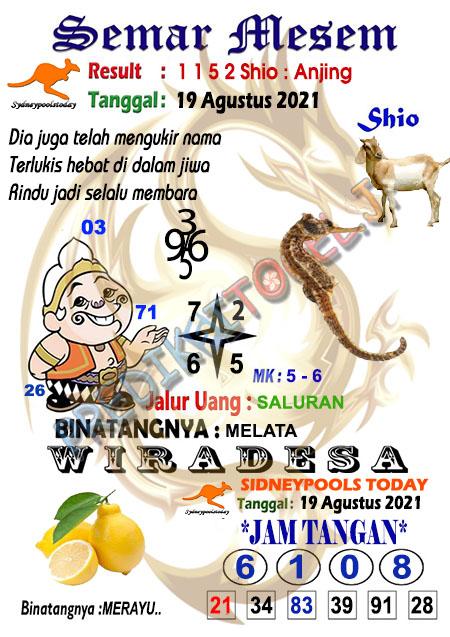 Syair Semar Mesem SDY Kamis 19-Agt-2021