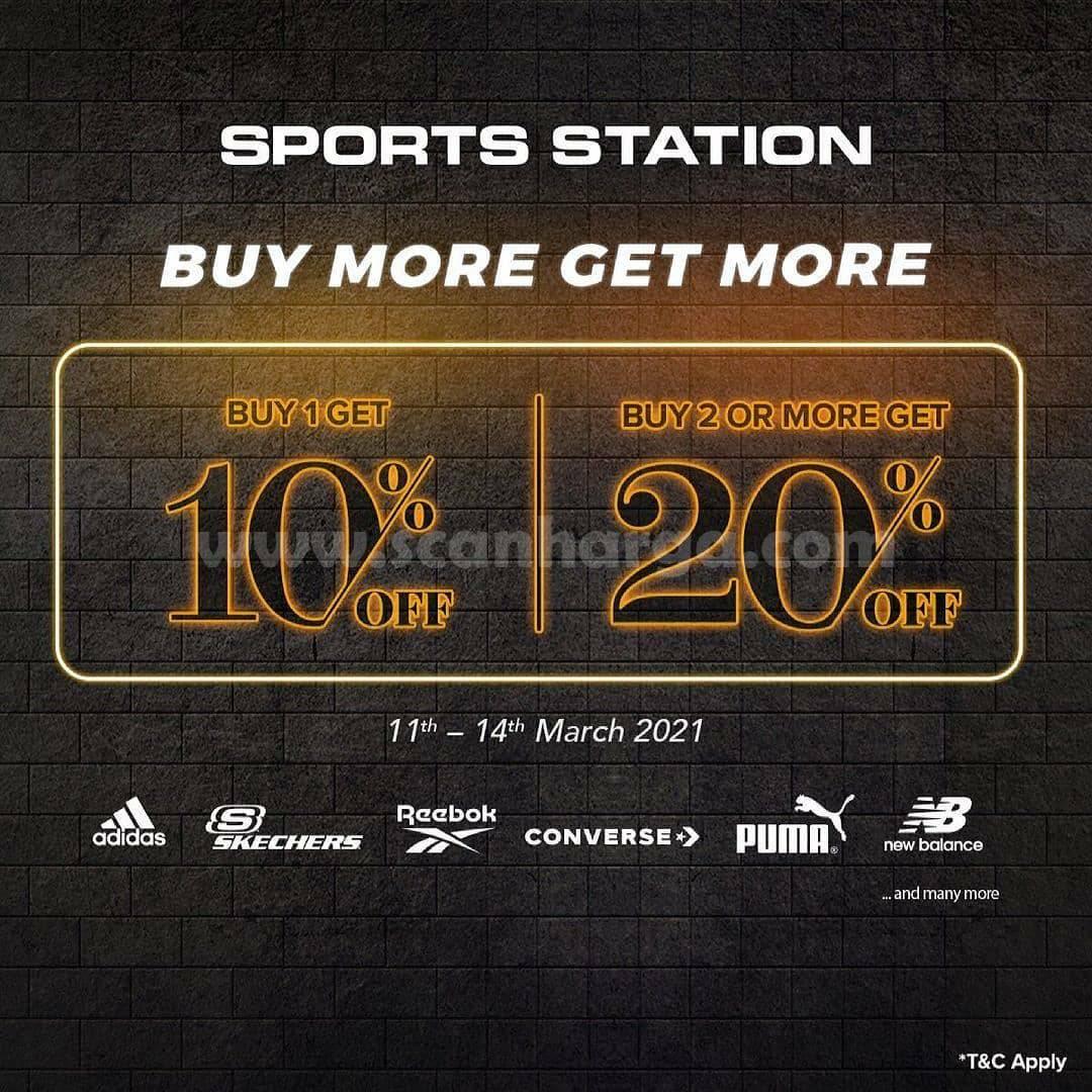 Sports Station Promo Long Weekend Beli 1 Diskon 10%  Beli 2 Diskon 20%