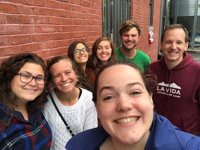 Adventure Camp Staff posing for selfie together