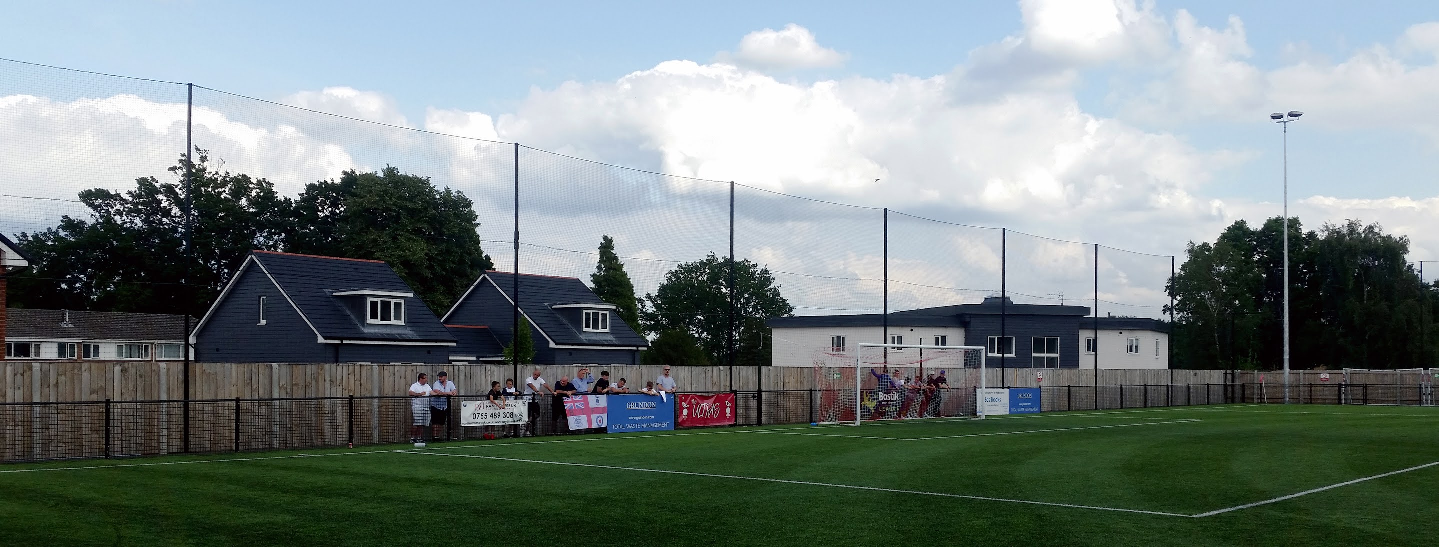 Behind the goal at Larges Lane