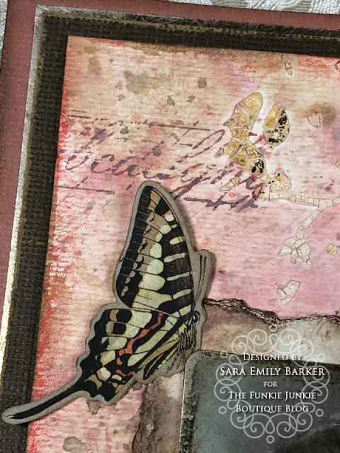 Sara Emily Barker https://sarascloset1.blogspot.com/2020/05/vintage-pink-inspiration.html Mixed Media Card #timholtz #stampersanonymous #rangerdistress #ideaology  2