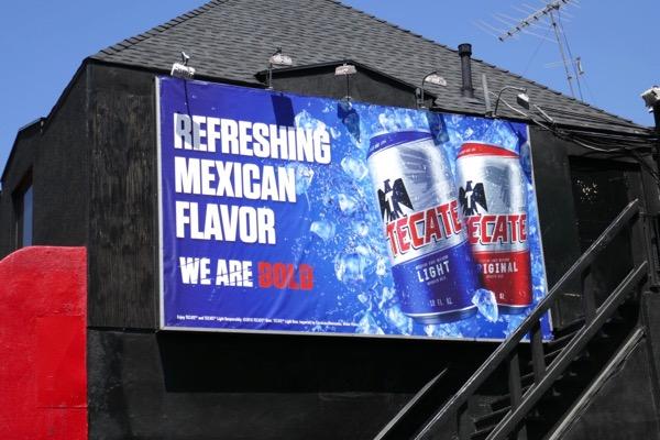 Tecate Beer Mexican Flavor billboard