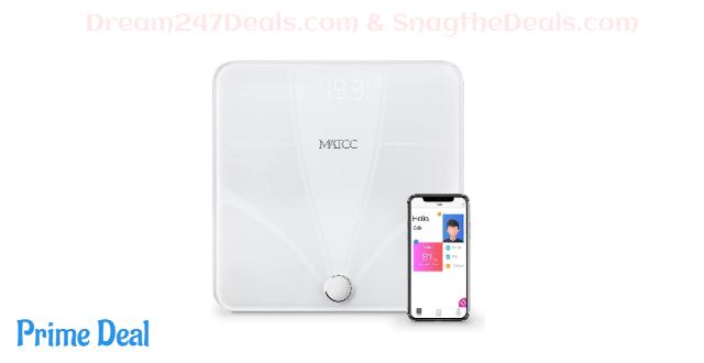 MATCC Bluetooth Body Fat Scales Digital Bathroom Weight Scale  50% OFF