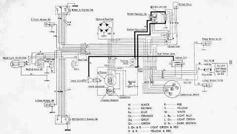 vintage free download wire diagrams com wiring diagrams and free manual ebooks: classic 1962 honda ... black free download wiring diagrams #4