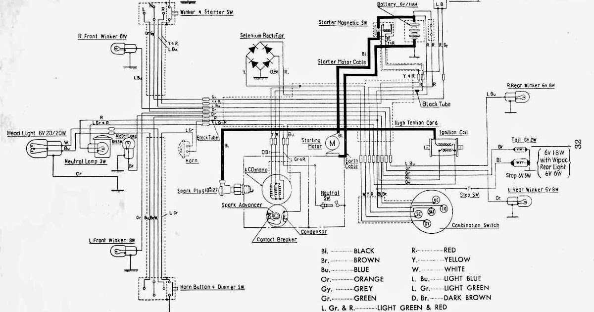 Wiring Diagrams and Free Manual Ebooks: Classic 1962 Honda