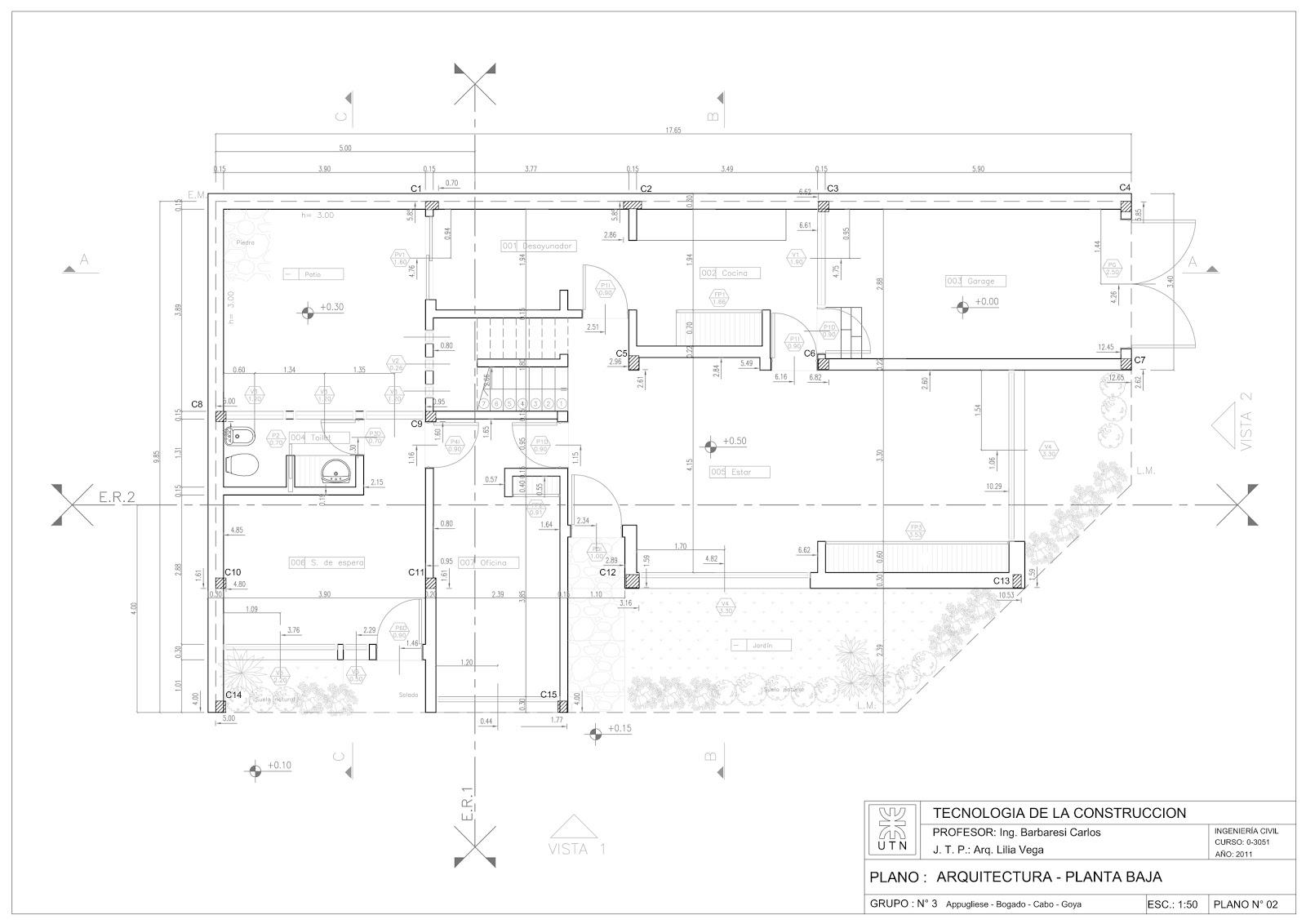 Detalles constructivos cad plano replanteo arquitectura y for Planos de estructuras