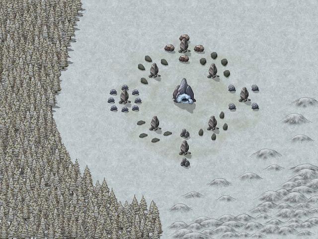 Aventura de Navidad para Dungeons & Dragons - La Frontera del Invierno - Cementerio de Gigantes
