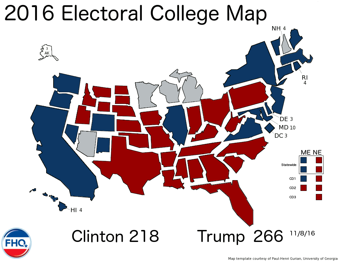 Interactive Electoral College Map Ethiopian Map - Us electoral map interactive
