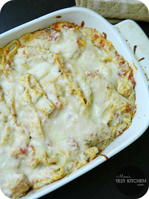 Simple Chicken Tortilla Casserole | www.momstestkitchen.com