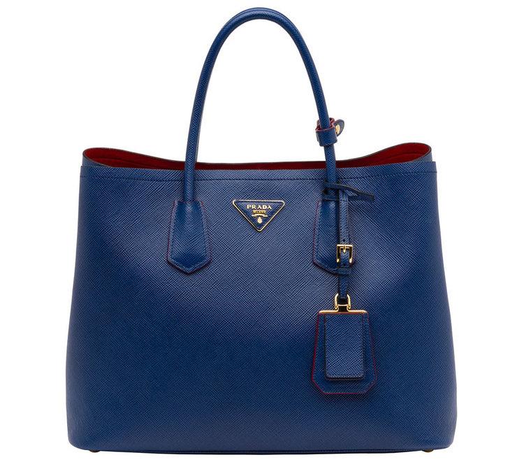 Crown Princess Mary carried her Prada Saffino blue bag