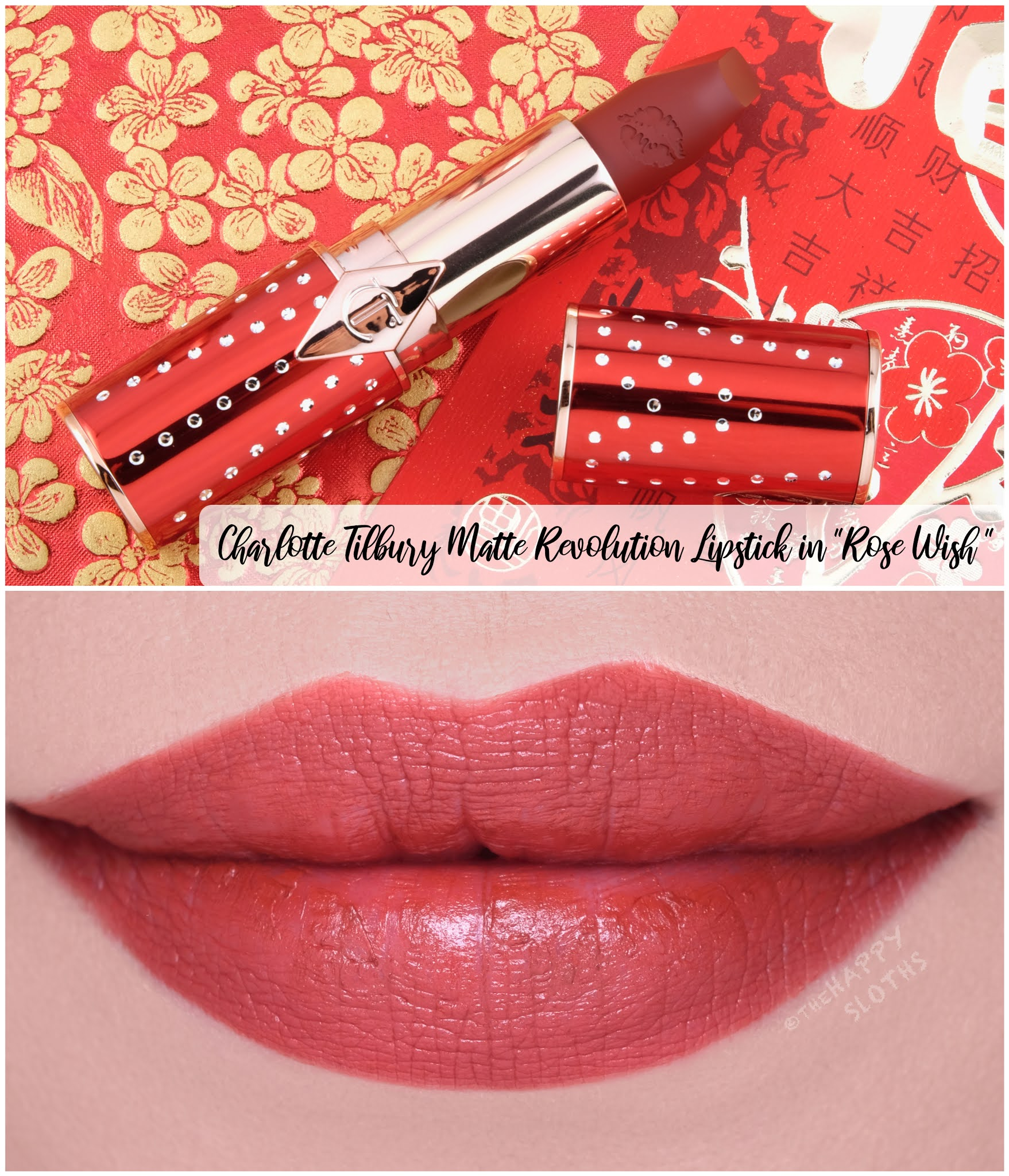 "Charlotte Tilbury | Lunar New Year Matte Revolution Lipstick in ""Rose Wish"": Review and Swatches"